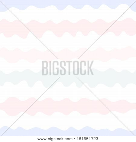 Vector seamless pattern, simple wavy lines. Endless texture in pastel colors (soft pink, purple, grey, white, powdery). Cute abstract background in doodle style. Editable design element for your creations