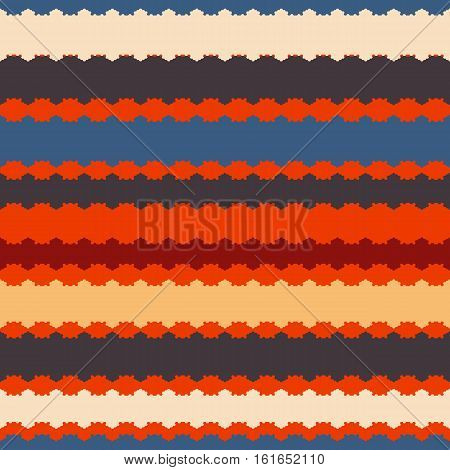 Seamless pattern with horizontal stripes bright saturated colors. Vector illustration.