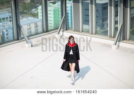 Celebration, graduation, beautiful, students, graduates, young Asian, beautiful student .
