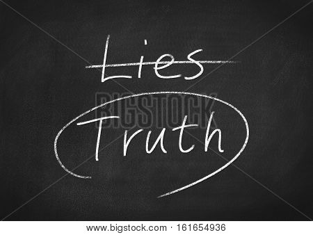 truth concept word text on blackboard background