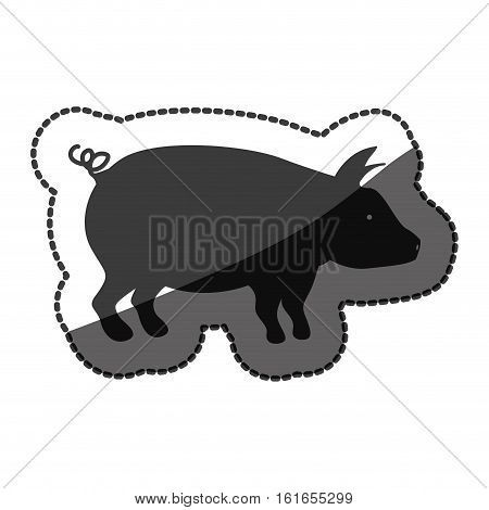 Pork icon. Animal farm life nature and fauna theme. Isolated design. Vector illustration