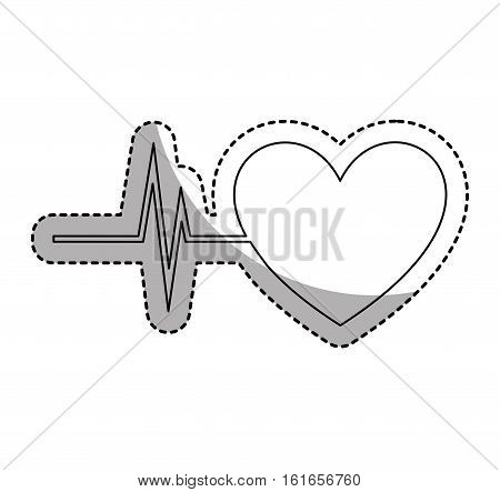 heart with cardiology icon vector illustration design