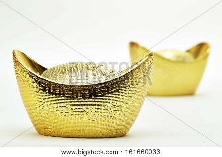 festivity Chinese new year and gold ingots
