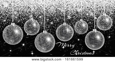 Christmas decoration. New years eve. Light effect. Glowing background. Sparks vector