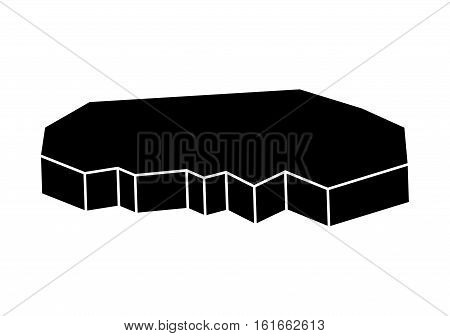 Ice Floe Vector Silhouette Symbol Icon Design.