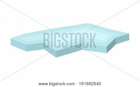 Ice Floe Vector Symbol Icon Design.