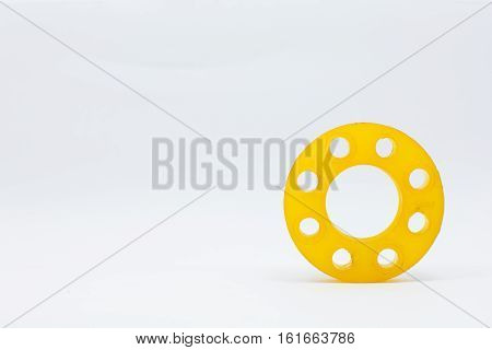 resin mold of flanges isolate on white background