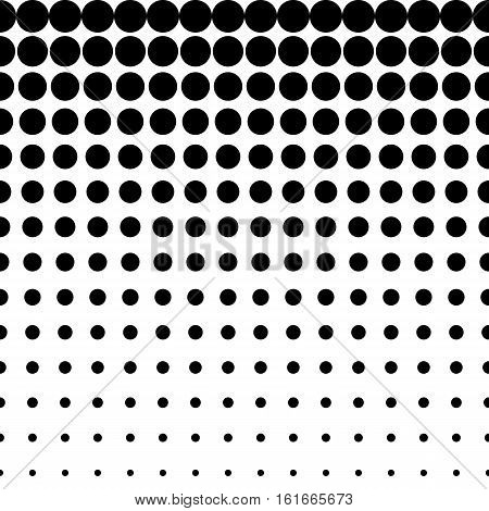 Vector monochrome seamless pattern, different sized circles & dots, black & white halftone transition. Modern endless texture. Useful for tileable print, stamping, decoration, web, digital, textile