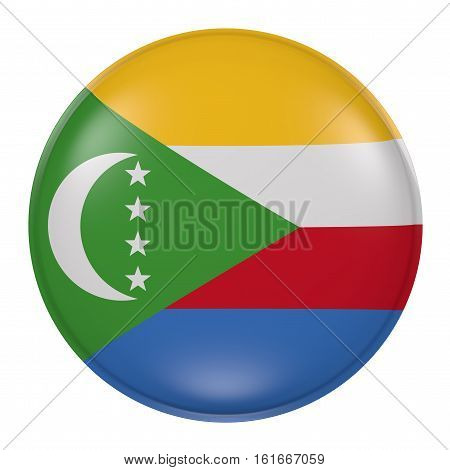 Comoros Button On White Background