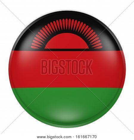 Malawi Button On White Background