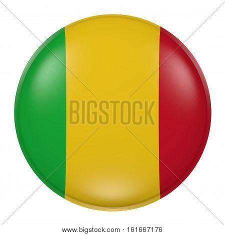Mali Button On White Background