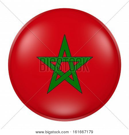 Morocco Button On White Background