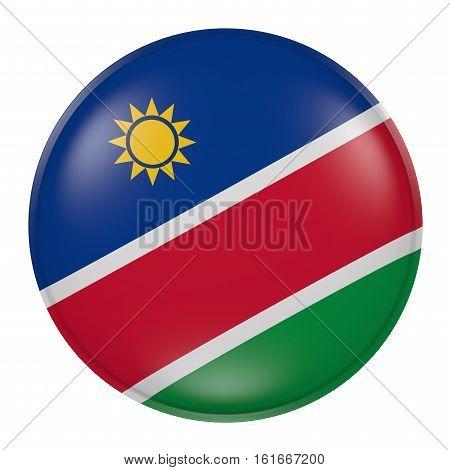 Namibia Button On White Background