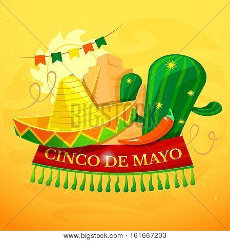 Cinco de Mayo vector illustration, Cinco de Mayo party background