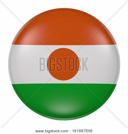 Niger Button On White Background