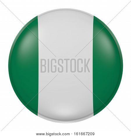 Nigeria Button On White Background