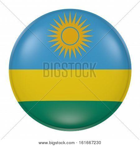 Rwanda Button On White Background