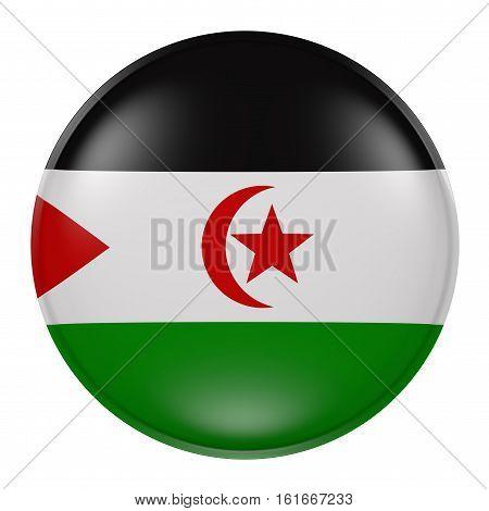 Sahrawi Arab Democratic Republic Button On White Background