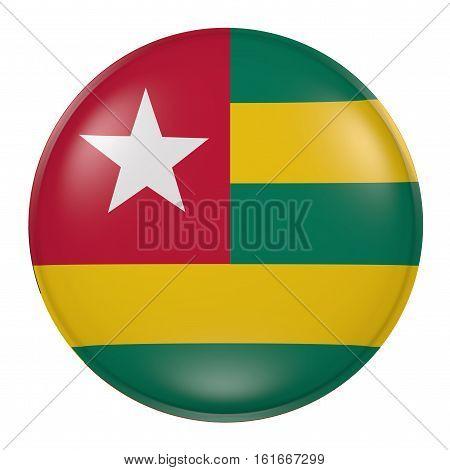 Togo Button On White Background