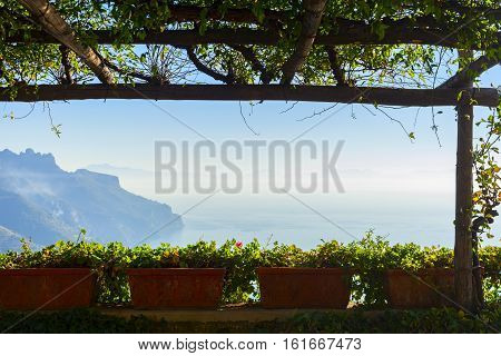Villa Rufolo View In The Town Of Ravello