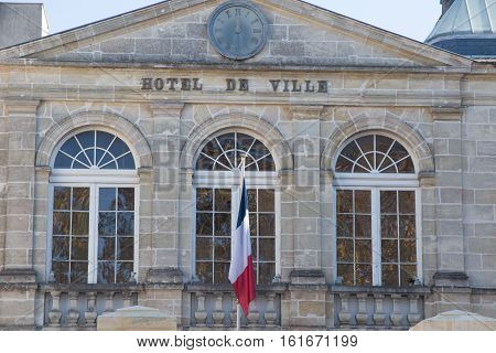 a city hall in a france town