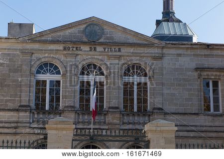 Ancient City Hall In France, Place To Mayor Of Town