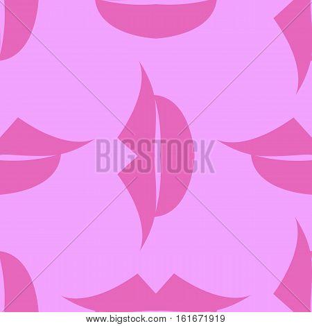 Lips Seamless pattern. Pink background. Vector illustration
