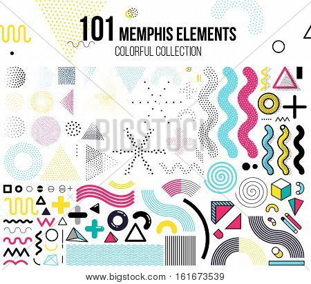Mega set of design elements, template for your project, animation, and, advertising, advertisement, commercial banner, poster, t-shirt. Big colorful vector collection