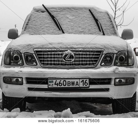 Kazakhstan, Ust-Kamenogorsk, december 10, 2016: Lexus LX 470 in the parking. Big powerful suv