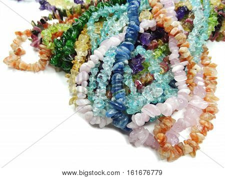 jewelry semiprecious beads made of geological minerals poster