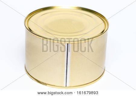 metal can for conserving food and meals