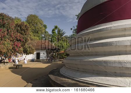 Kandy, Sri Lanka - December 01:, 2016: Temple Of The Sacred Tooth Relic, Located In The Royal Palace