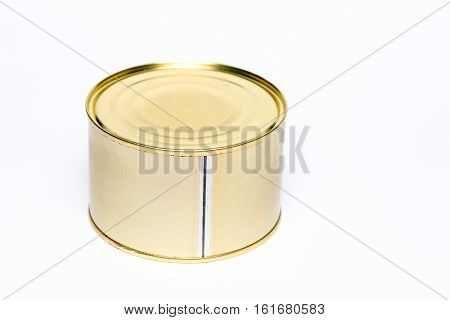 conserving can for food on white background