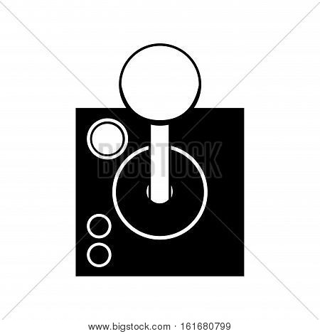 Joysitck icon. Videogame play leisure gaming technology and entertainment theme. Isolated design. Vector illustration