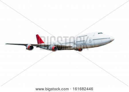 image passenger airplane isolated on white background