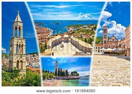 Island Of Hvar Tourist Postcard