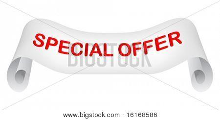 special offer paper vector illustration