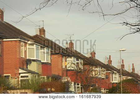 houses and their souls reflection misaligned, these houses looks like they have a soul (concept) see ghost chimneys