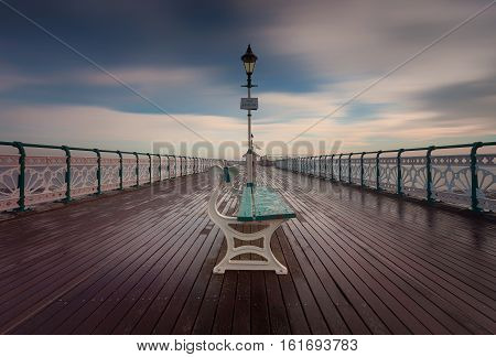 Penarth Pier, a 750 feet long Victorian pier on the Esplanade in Penarth, Vale of Glamorgan, South Wales