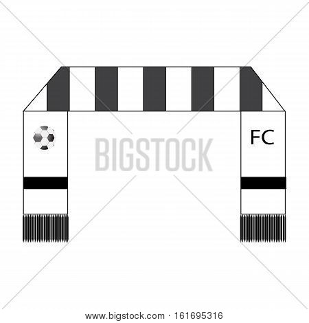 Football fans scarf icon on white background Football fans scarf symbol. Vector illustration.