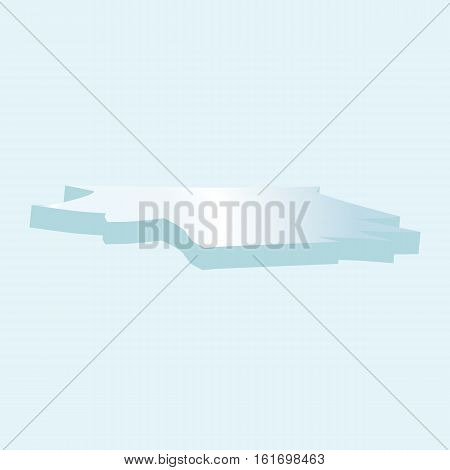 Ice Floe Icon Symbol Design. Vector Ice Floe Illustration Isolated On Blue Background.