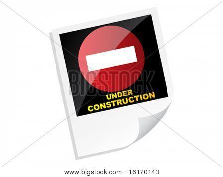 unter Bau-Banner-Vektor-illustration