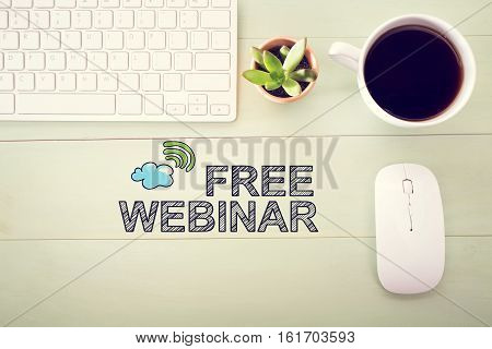 Free Webinar Concept With Workstation