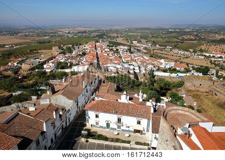 ESTREMOZ, PORTUGAL: View of the Old Town from the Tower of the Three Crowns (Torre das Tres Coroas)