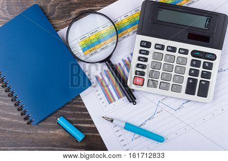Printout With Graph, Calculator, Pen Notepad