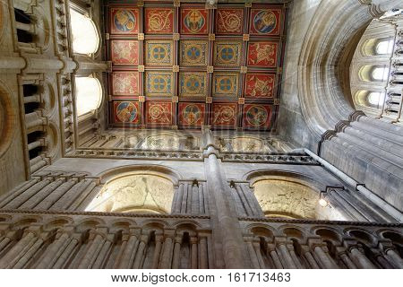 ELY, ENGLAND - JUNE 28, 2016: Interior Ely Cathedral. The only UK building recognized as one of the Seven Medieval Wonders of the world.