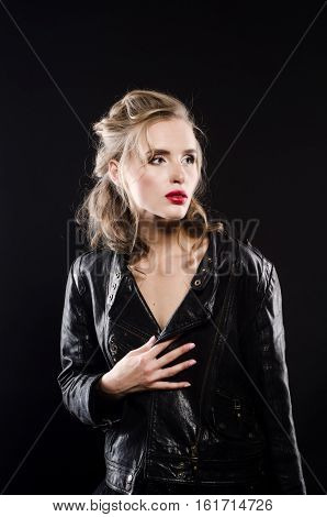 Beautiful Sexy Blonde Studio Picture