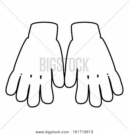 Winter Gloves Outline Icon Symbol Design. Vector  Leather, Wool Gloves Illustration Isolated On Whit