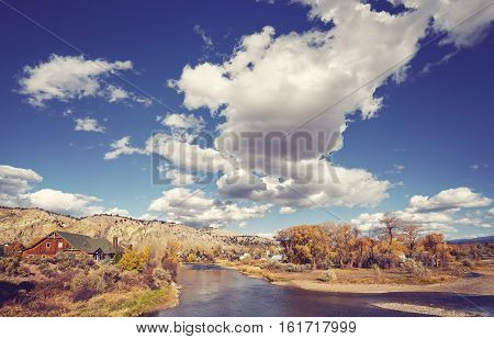 Beautiful Autumn Landscape With Eagle River, Usa.