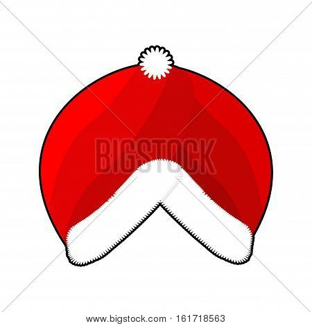 Santa Turban. East Islamic Headdress. Red Cap Whit Fur. Muslim Christmas Hat. Winter Warm Cap